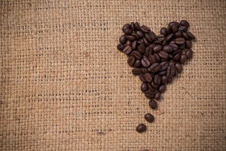 Heart from coffee beans 免版税图像