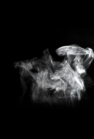 Smoke on black background Stock Photo