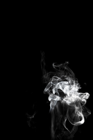 Smoke on black background 免版税图像