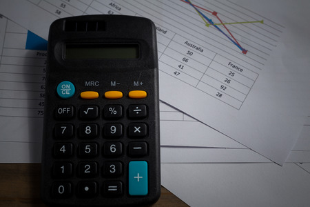 calculator and data paper