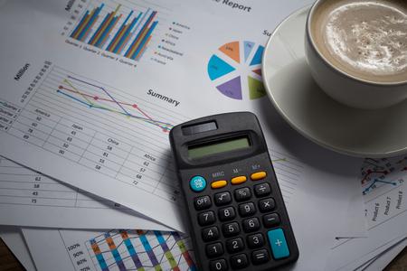calculator and data paper