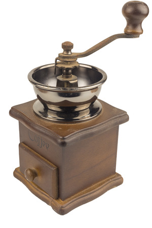 Coffee grinder isolated. clipping path
