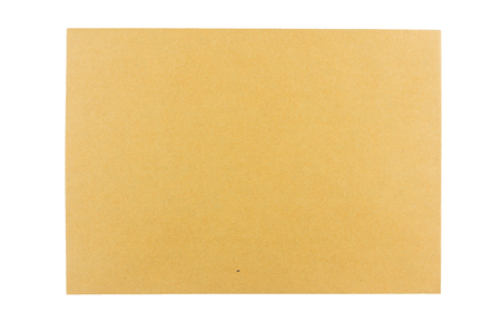 Brown craft envelope isolated on white background.