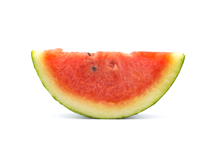 Sliced of watermelon isolated on white background. Stock Photo - 99381429
