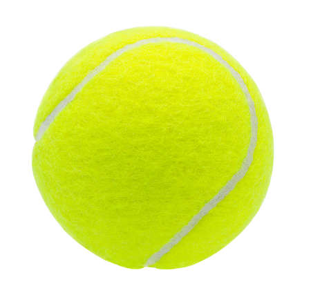 tennis ball isolated on white background with clipping path