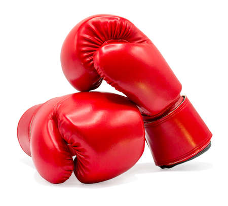 Boxing glove isolated on white background with clipping path