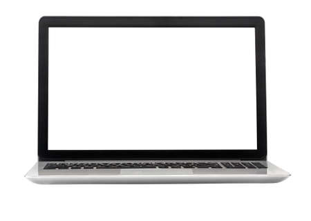 Laptop isolated on the white background