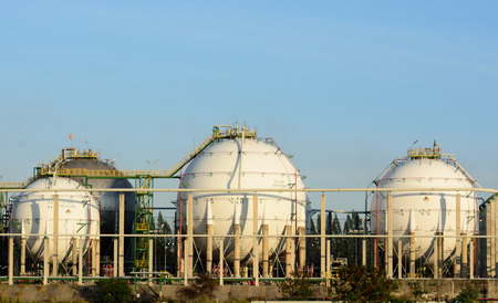 gas tanks for petrochemical plant