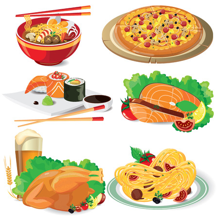 illustration food on white,vector Ilustrace