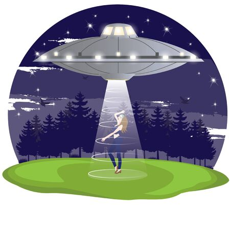 kidnapping: illustration. UFO 1