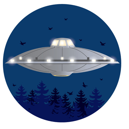 kidnapping: illustration. UFO Illustration