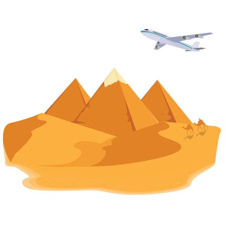 Ilustración de la pirámide de Egipto.