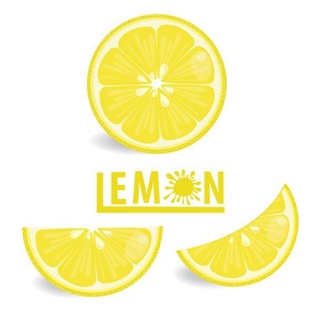 illustration lemon fruits on white vector