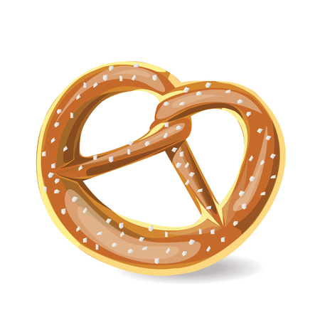 bretzel: illustration pretzel Brezel on white background.
