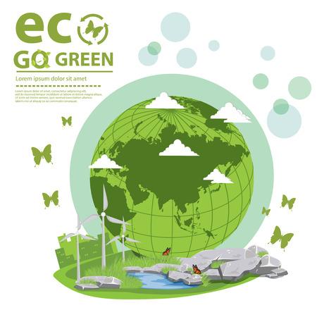 ozone friendly: Ecology concept. save world vector illustration. Illustration