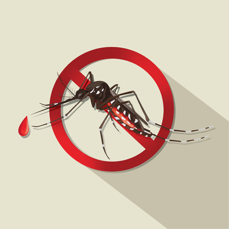 stop mosquito: illustration. mosquito Illustration