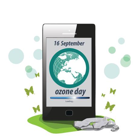 ózon: illusztráció. Világ Ozone napja