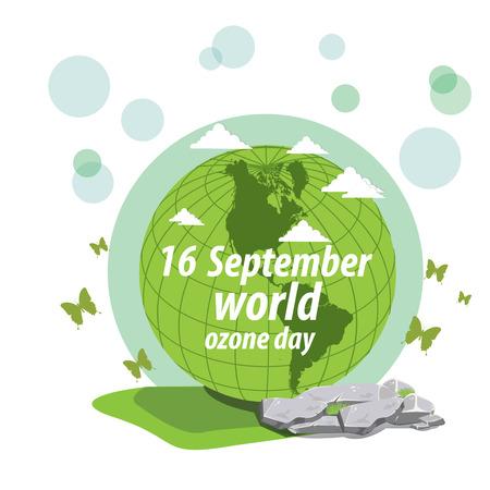 ozone: illustration. World Ozone Day