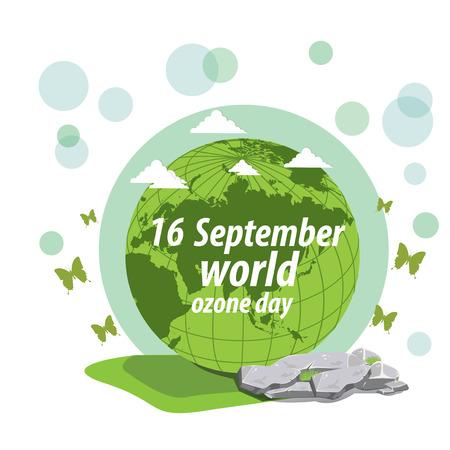 ózon: illustration. World Ozone Day