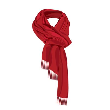 빨간색 줄무늬 스카프 절연