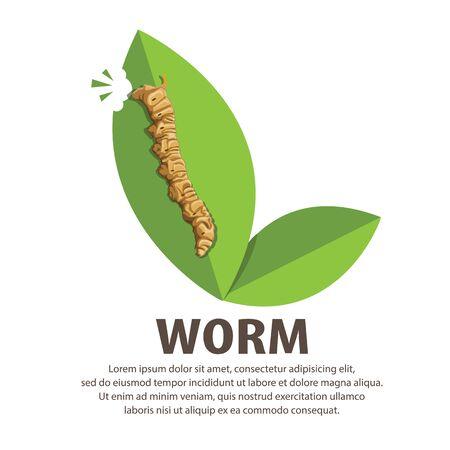 wriggle: illustration,Cartoon worm Illustration