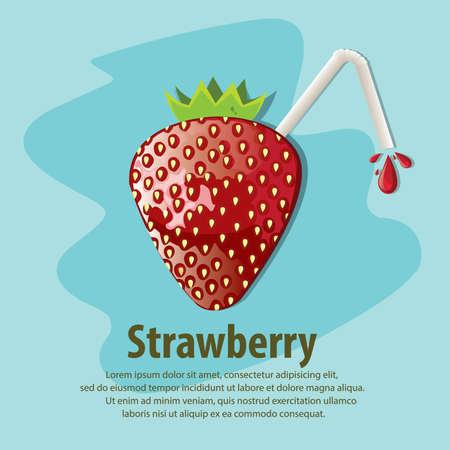 Strawberry. Vector illustration Illustration
