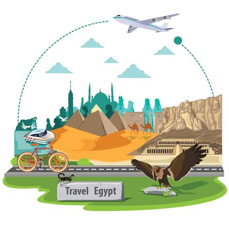 illustration. travel around egypt. Illustration