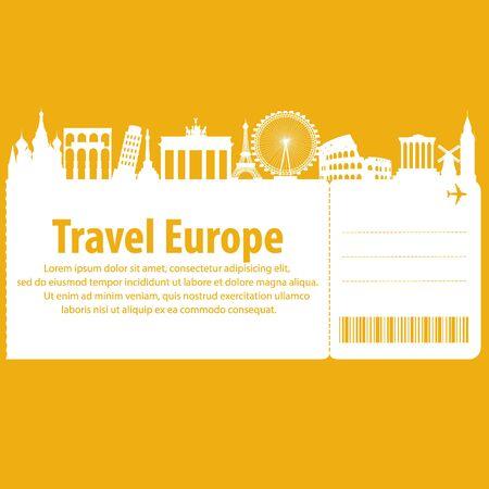 tour: European tour. Vector illustration