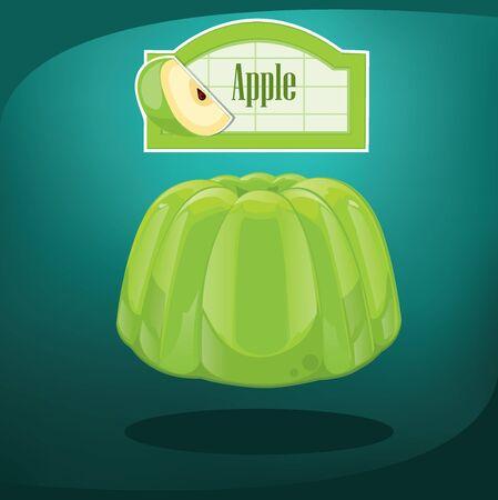 gelatin: Jelly green dessert.