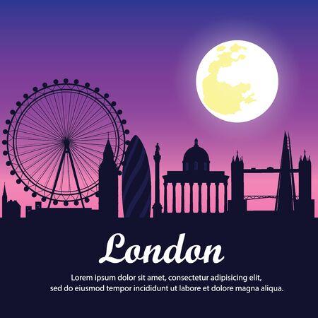 illustration. travel around London.