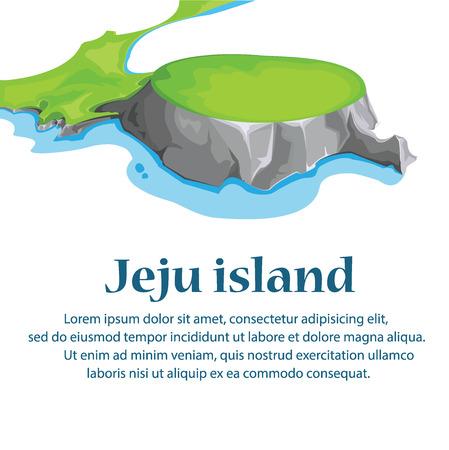 Podróże Wyspa Jeju, wektor Korea Południowa.illustration.