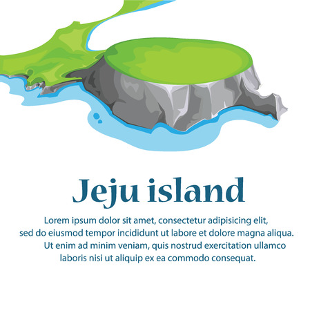 Travel Jeju Island, South Korea.illustration vector.