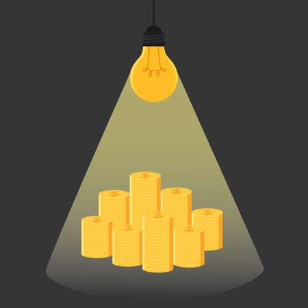 lightbulb idea: Have idea have money .