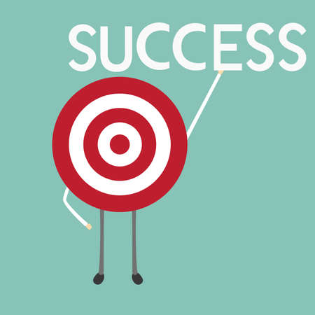 success concept: Target Success concept.