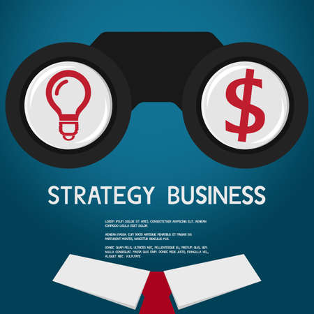 prospect: Vision and strategy for success business. vision concept. Vector Illustration
