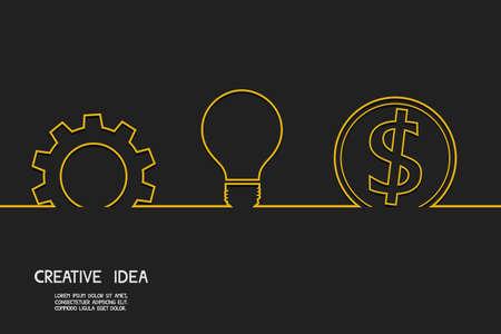 Creative idea concept make money. Vector Illustration. Illustration
