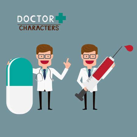 doctor vector: Doctor characters.