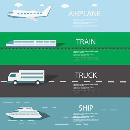 medios de transporte: Transporte Infografía, vector, ilustración.
