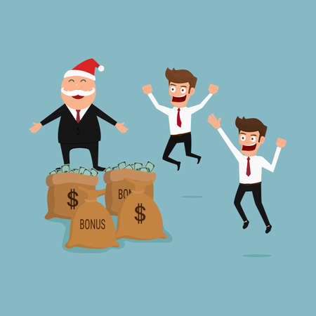 patron: Protuberancia que da la gran ventaja. Navidad y año nuevo. Ilustración vectorial de dibujos animados. Vectores