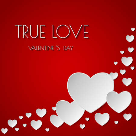 true love: True love. Happy Valentines Day abstract background. Vector illustration.