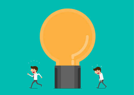 schöpfung: Idea Prozess machen Geschäftsmann frisch zu bekommen. Cartoon Vektor-Illustration. Illustration