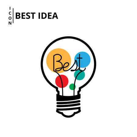 best idea: Best idea concept icon design. Vector Illustration.