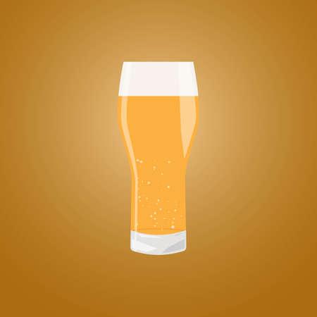 beerfest: Beer glass mug OKTOBERFEST beer festival. Vector Illustration.