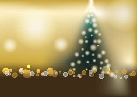 illuminations: Abstract vector background and blurred lights shining christmas tree with bokeh effect. Bokeh Background Vector Illustration.