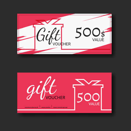 free backgrounds: Gift voucher certificate coupon template with colorful and modern style. can be use for business shopping card, customer sale and promotion, layout, banner, web design. Vector Illustration.