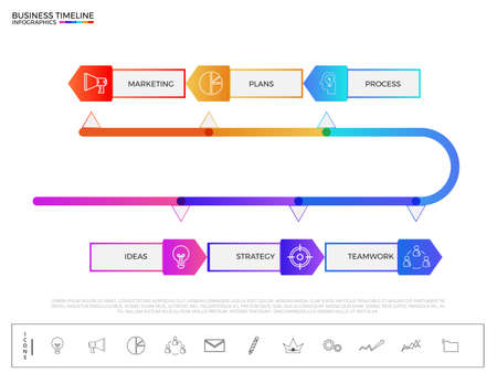 Stair Step To Success Concept Modern Colorful Business Timeline