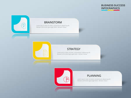 targets: Successful business concept design marketing infographic template. Infographics with icons and elements. Can be used for workflow layout, diagram web design, infographics. Vector Illustration