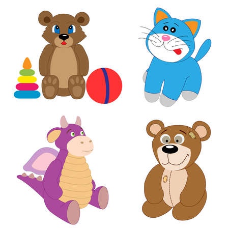 The toy set    editable vector illustration   Vector
