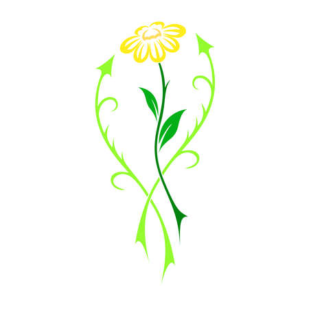 érdekes: Interesting beautiful flower vector in tattoo style - illustration