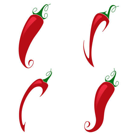 red pepper: Red pepper on white background - beautiful illustration Illustration